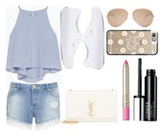 Shopping 💳💲 by elizabeth-0716 on Polyvore featuring polyvore fashion style Zara Miss Selfridge Vans Yves Saint Laurent Casetify Victoria Beckham Clinique Ilia clothing