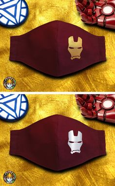 Easy Face Masks, Diy Face Mask, Mouth Mask Design, Iron Man Avengers, Animation Movies, Fashion Face Mask, Popular Movies, Textiles, Crochet Designs