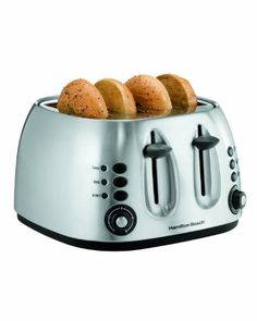 Hamilton Beach - 4 Slice Mechanical Toaster - 24504 - Plain and Simple Deals - no frills, just deals Best 4 Slice Toaster, Small Kitchen Appliances, Home Appliances, Kitchen Small, Kitchen Dining, Cheap Toaster, Stainless Steel Toaster, Hamilton Beach, Specialty Appliances