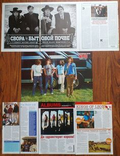 KINGS OF LEON - Caleb Followill, Poster Articles Clippings Magazine | eBay