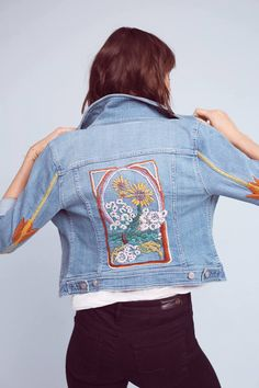 303d305a818 Pilcro Embroidered Denim Jacket Festival Fashion