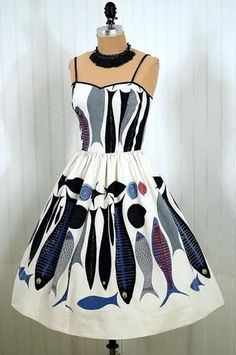 ...I will pack a dress painted with sea creatures, for dining al fresco, and watching the setting sun.