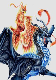 dragon vs phoenix - Cerca con Google
