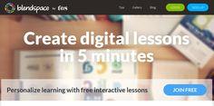 Udostępnianie materiałów edukacyjnych w Blendspace Learning, Digital, Tips, Blog, Free, Studying, Blogging, Teaching, Onderwijs