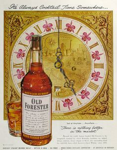1951 Old Forester Whisky ad, John Howard art from #RetroReveries