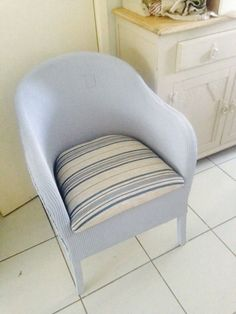 Lloyd Loom Vintage Bedroom chair. Courier Available.