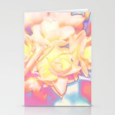 Solarized Electric Daffodils Digital Photograph Stationery Cards by Fold Envelope, Blank White, Daffodils, Envelopes, Card Stock, Aurora Sleeping Beauty, Stationery, Greeting Cards, Smooth