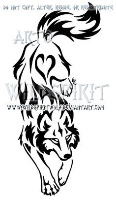Tribal Wolf on Pinterest