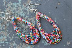 Yum Yummy Candy Sprinkle Resin Earrings Handmade by tranquilityy, $6.99