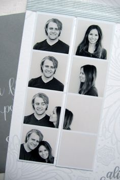 The first creative engagement photo strip I've seen. Love.