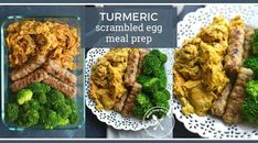 Give your breakfast an antioxidant boost by adding turmeric to your morning eggs for one healthy Turmeric Scrambled Egg Meal Prep recipe!