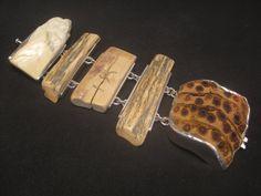 Sterling Silver Mammoth Fossilized Ivory Bamboo. www.e-bu-jewelry.com