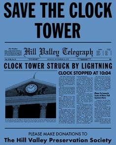 Save the clock tower flyer