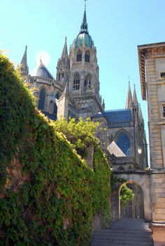 Cathédrale Notre-Dame de Bayeux is a Norman-Romanesque cathedral, located in the town of Bayeux.  FRANCE