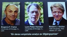 The 2013 Nobel Prize in economics has been awarded to Eugene Fama, Lars Peter Hansen and Robert Shiller.