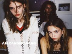 In this picture: Alice Metza, Molly Bair, Stella Lucia Credits for this picture: Alexander Wang (Designer) , Steven Klein (Photographer) , Pascal Dangin (Creative Director) , Karl Templer (Fashion Editor/Stylist) , Anthony Turner (Hair Stylist) , Jimmy Paul (Hair Stylist) , Polly Osmond (Makeup Artist) , Gina Edwards (Manicurist)