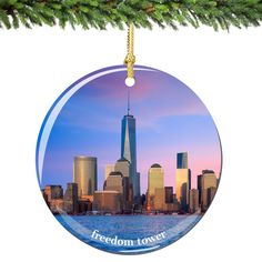 New York City Christmas Souvenir Gift Central Park NYC Porcelain Ornament