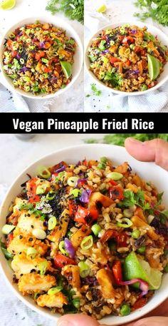 Tasty Vegetarian Recipes, Vegetarian Dinners, Vegan Dinner Recipes, Veggie Recipes, Whole Food Recipes, Cooking Recipes, Meatless Dinner Ideas, Healthy Recipes, Veggie Dinners