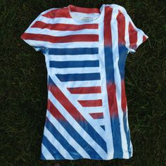 Made this yesterday: all you need is a white shirt, spray paint and painters tape! Paint Shirts, Tie Dye Shirts, Diy Spray Paint, Spray Painting, Painters Tape, Girls Camp, All You Need Is, Shirt Designs, Diy Projects