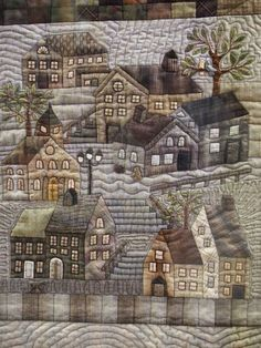 Heather Tomlinson - detail of her Yoko Saito Houses quilt