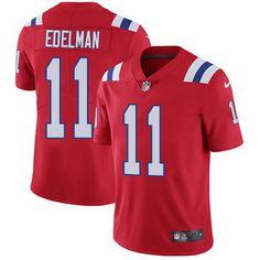 Nike Patriots #11 Julian Edelman Red Alternate Men's Stitched NFL Vapor Untouchable Limited Jersey