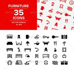 Buy Furnitures Icons set by NrthPrk on GraphicRiver. Set of 35 education icons. A selection of furniture, objects and signalitic. Ideal for brands that have a foot in the. Bedding Sets Online, Luxury Bedding Sets, Icon Design, Logo Design, Graphic Design, Education Icon, Best Icons, Wood Windows, Luxury Bedding Collections