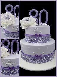 80th birthday cake.  Beautiful border!