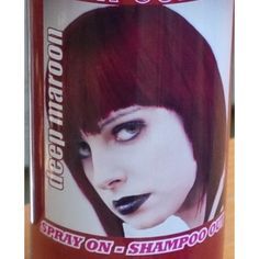 a2ef4c9935a Spray On Wash Out Deep Maroon Hair Color Temporary Hairspray Great For  Costume or Halloween Party Rave Concert Stage Play Musical Movie Photo  DragonCon ...