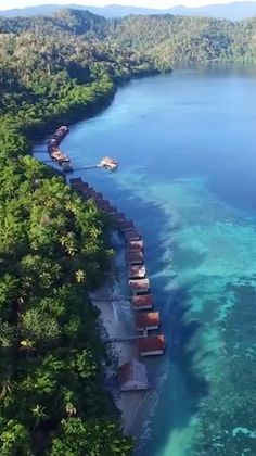 Indonesia is a destination that you should have on your bucketlist. This resort (Papua Paradise) has incredible overwater bungalows that will leave you speechless. More overwater bungalow resorts in Indonesia listed in our article - click the link. Vacation Places, Dream Vacations, Travel Around The World, Around The Worlds, Travel Photographie, Overwater Bungalows, Beau Site, Beautiful Places To Travel, Amazing Places On Earth