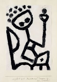 Mumon drunk falls into the chair by @artist_klee #expressionism