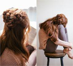 lovely girl hair style