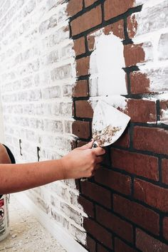 How To DIY Faux Brick Wall &; Within the Grove &; How To DIY Faux Brick Wall &; Within the Grove &; dienaalidamq dienaalidamq Main How To DIY Faux Brick […] wall paneling Faux Brick Wall Panels, Fake Brick Wall, Brick Wall Paneling, Painted Brick Walls, White Brick Walls, Brick And Wood, German Schmear, Brick Wall Bedroom, Design Loft