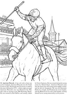 Great Racehorses: Triple Crown Winners and Other Champions Monkey Coloring Pages, Sports Coloring Pages, Fish Coloring Page, Horse Coloring Pages, Free Coloring Sheets, Coloring Book Art, Colouring Pages, Coloring Pages For Kids, Paw Patrol Coloring