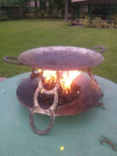 Using charcoal on a fajita cooker