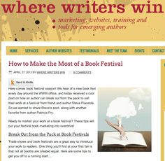 Tips to amp up your presence at a book festival ...  http://www.stevepiacente.com/blog/2013/04/26/break-out-from-the-pack-at-book-festivals/