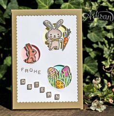 Card Stampin UP Easter basket