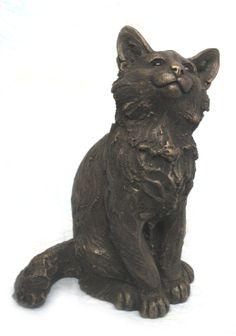 """Raffy"" Maine Coon Kitten by Suzie Marsh Bronze Resin, Made in the UK www.suziemarshsculpture.co.uk"