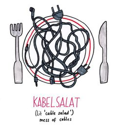 Salat is great, very versatile. Was hast du da für ein Salat gemacht?!