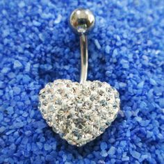 Cute heart love belly rings navel ring bar button body by owlstory, $8.95
