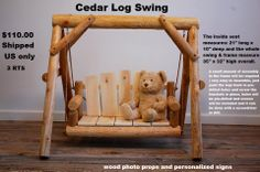 cedar log swing prop