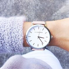 Polished Steel / White Face / Vegetable Tan $139.00