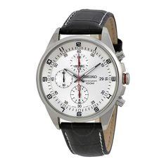 Seiko Chronograph Silver Dial Stainless Steel Men's Watch SNDC87P2 - Stainless Steel - Seiko - Watches - Jomashop