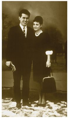 Young President Uchtdorf and his wife as newlyweds