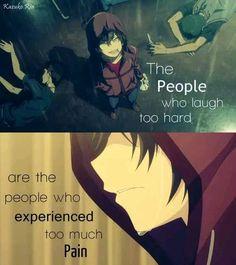 as pessoas que dificilmente riem são as pessoas que experimentaram muita dor