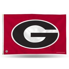 Georgia UGA Bulldogs Oval G House/Porch/Banner 3X5 Flag