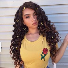 Cheap Silk Top Lace Wigs Brazilian Full Lace Wigs Loose Wave Density For Black Women Human Hair Wigs Top Hairstyles, Pretty Hairstyles, Curly Hair Styles, Natural Hair Styles, Peinados Pin Up, Synthetic Lace Front Wigs, Synthetic Hair, Curly Wigs, Living At Home