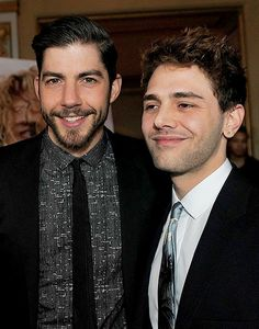 """tom-at-the-farm:  """"Xavier Dolan and Pierre-Yves Cardinal at the Tom at Farm premiere in Montreal, 2014  """""""