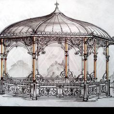 Pergola Attached To Roof Info: 2933239244 Gazebo Pergola, Small Pergola, Patio Roof, Pergola Plans, Pergola Kits, Outdoor Areas, Outdoor Structures, Aluminum Gazebo, Victorian Greenhouses
