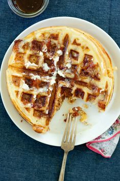 These bacon waffles understand that everything ends up in the same place, anyway.