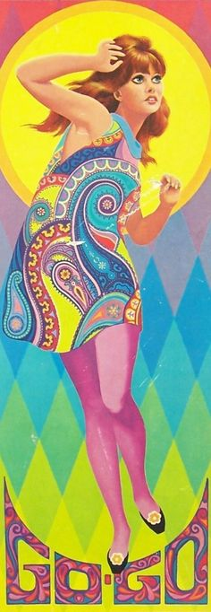 Retro Fashion GOGO: Always I've been wondering why I like so much I don't know but I'm pretty sure that I should have lived on this time. Psychedelic Fashion, Psychedelic Art, Mode Vintage, Retro Vintage, Illustrations, Illustration Art, 1960s Fashion, Vintage Fashion, Vintage Clothing